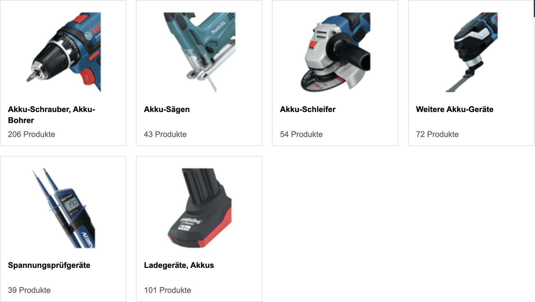 Akku-Elektrowerkzeuge